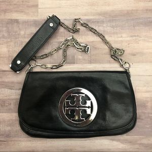 Tory Burch all leather clutch